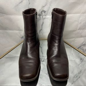 Etienne Aigner square toe mid high boots Size 8.5
